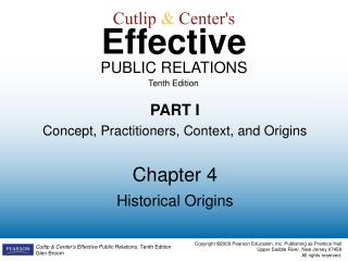 Cutlip  &  Center's Effective PUBLIC RELATIONS