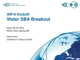 AIP-6  Kickoff :  Water SBA Breakout