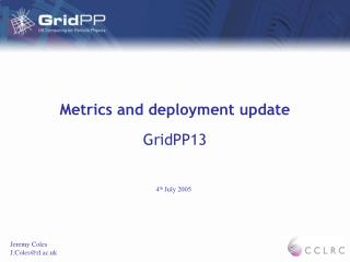 Metrics and deployment update
