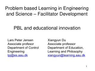 PBL and educational innovation