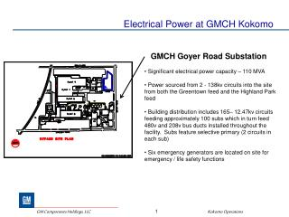 Electrical Power at GMCH Kokomo