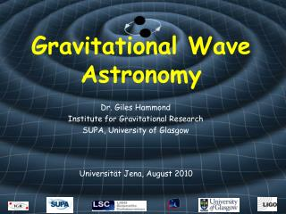 Gravitational Wave Astronomy