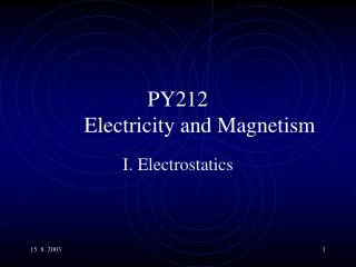 PY212 Electricity and Magnetism