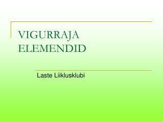 VIGURRAJA ELEMENDID