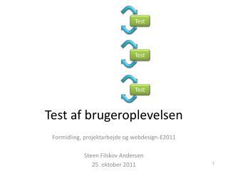 Test af brugeroplevelsen