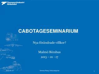 CABOTAGESEMINARIUM