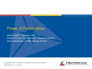 Power of Partnerships