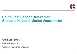 South East London sub-region Strategic Housing Market Assessment