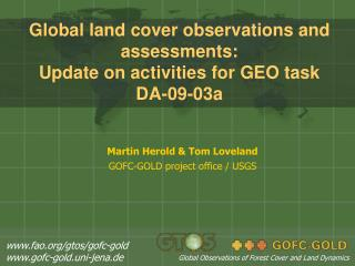 Global land cover observations and assessments: Update on activities for GEO task DA-09-03a