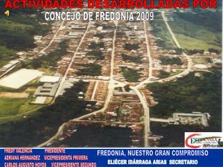Concejo de Fredonia 2009
