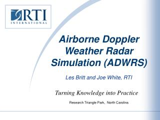 Airborne Doppler Weather Radar Simulation (ADWRS)