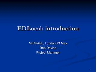 EDLocal: introduction