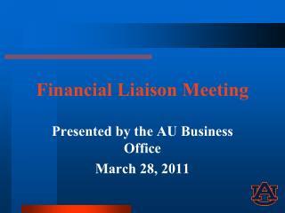 Financial Liaison Meeting