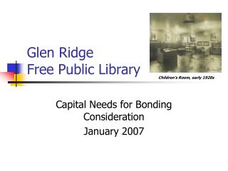 Glen Ridge  Free Public Library