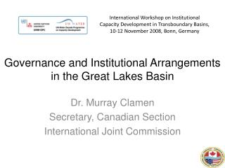 Governance and Institutional Arrangements in the Great Lakes Basin