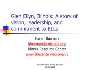 Glen Ellyn, Illinois: A story of vision, leadership, and commitment to ELLs