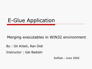 E-Glue Application