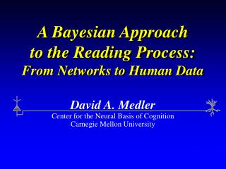 A Bayesian Approach to the Reading Process: From Networks to Human Data
