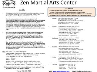 Zen Martial Arts Center