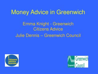 Money Advice in Greenwich