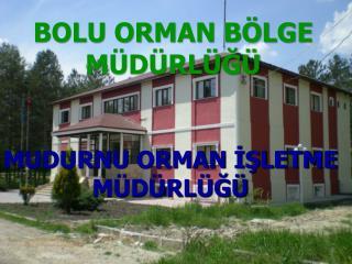 BOLU ORMAN BÖLGE MÜDÜRLÜĞÜ