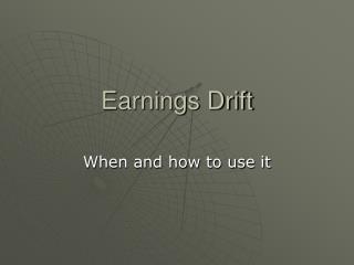 Earnings Drift