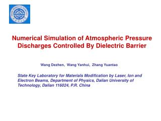 Numerical Simulation of Atmospheric Pressure  Discharges Controlled By Dielectric Barrier