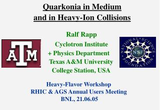 Quarkonia in Medium and in Heavy-Ion Collisions
