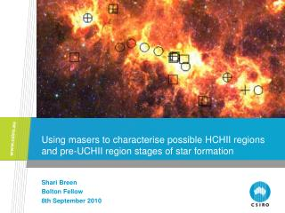 Using masers to characterise possible HCHII regions and pre-UCHII region stages of star formation