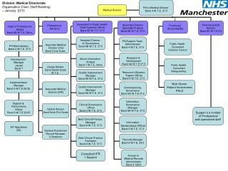 Division: Medical Directorate Organisation Chart (Staff Banding)  – January  2010