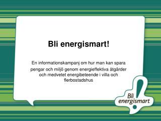 Bli energismart!