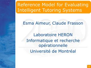 Reference Model for Evaluating Intelligent Tutoring Systems