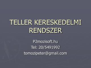 TELLER KERESKEDELMI RENDSZER