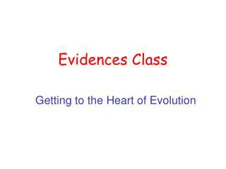 Evidences Class