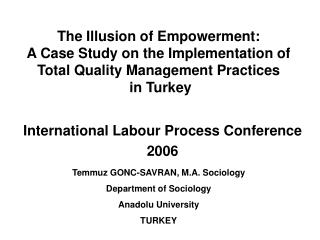 International Labour Process Conference  2006