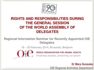 Rights and  Responsibilities during the general session of the World Assembly of Delegates