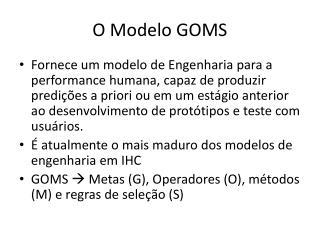 O Modelo GOMS