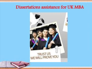 Dissertations assistance for UK MBA
