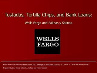 Tostadas, Tortilla Chips, and Bank Loans: Wells Fargo and Salinas y Salinas