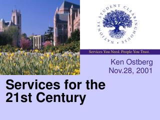 Services for the 21st Century