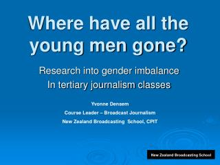 Where have all the young men gone?