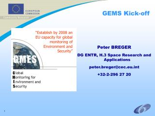 GEMS Kick-off