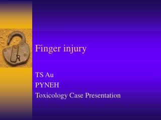 Finger injury