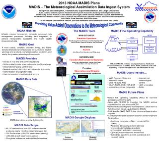 2013 NOAA MADIS Plans MADIS – The Meteorological Assimilation Data Ingest System