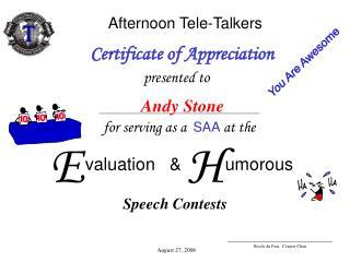 Afternoon Tele-Talkers