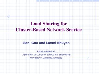 Load Sharing for  Cluster-Based Network Service