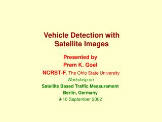 Vehicle Detection with Satellite Images