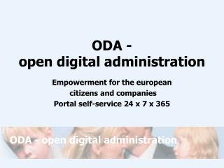 ODA -  open digital administration