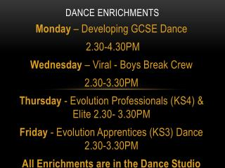 Dance Enrichments