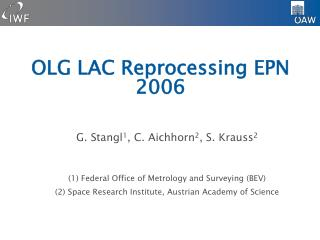 OLG LAC Reprocessing EPN 2006